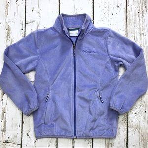 Columbia Girls Lavender Fleece Zip Jacket Sz S 7/8